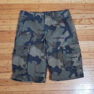 Camo cargo shorts size 12 boys